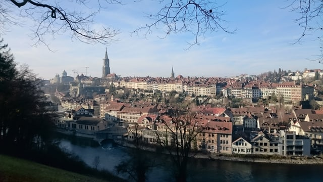 Blick vom Muristalden aus auf die Berner Altstadt.