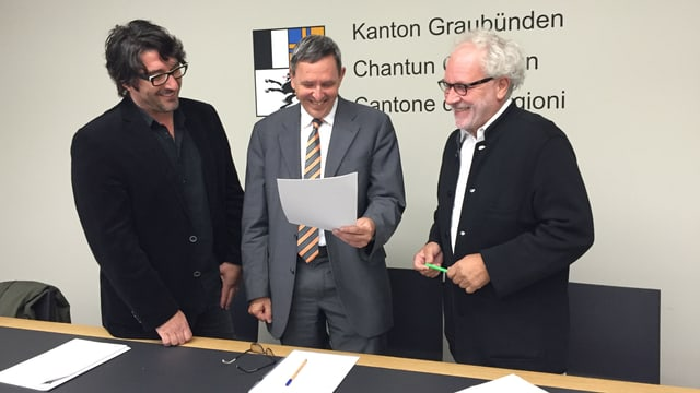 Armon Fontana, Martin Jäger ed Christof Kübler han preschantà ils projects che vegnan sustegnids.