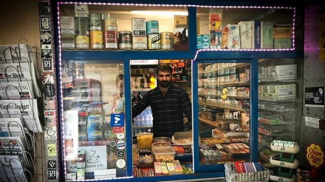 Der Kiosk von Sedat Yildirim befindet sich in einem uralten Tramhäuschen im Berner Ostring-Quartier.