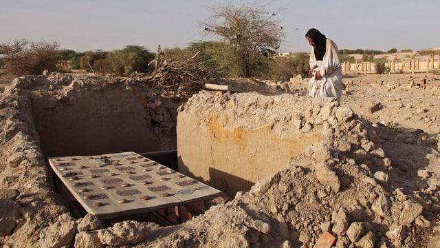 Ein zerstörtes Mausoleum in Timbuktu.