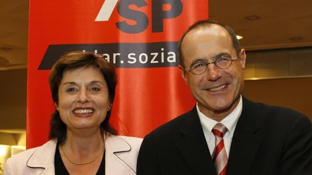 Fetz und Janiak nebeneinander