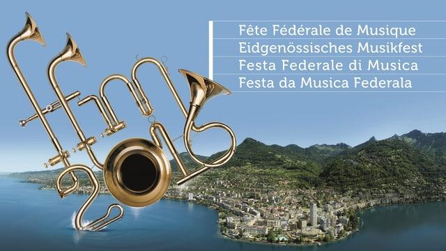 Il logo da la festa da musica federala a Montreux.