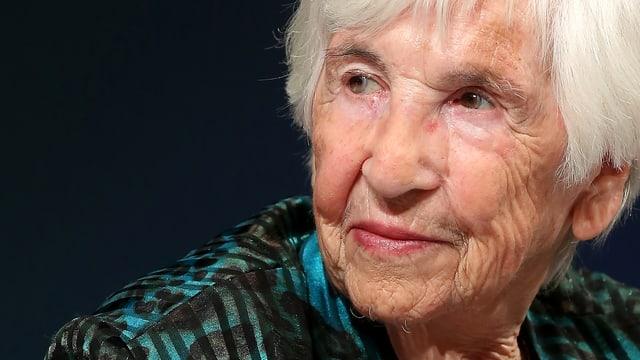 Porträt der Auschwitz-Überlebenden Esther Bejarano.