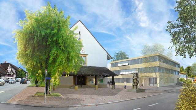 Visualisierung Gemeindehaus Frick