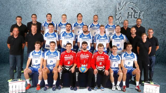 Gruppenbild HC Kriens-Luzern in der Saison 2014/2015.