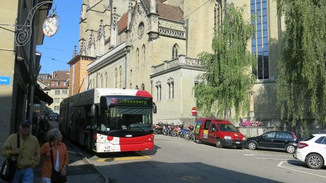Auf dieser Seite der Kathedrale soll der Bus nicht mehr durchfahren dürfen.