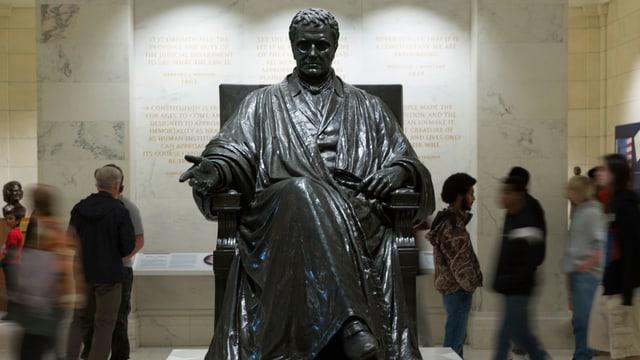 Statue von John Marschall in Washington D.C.
