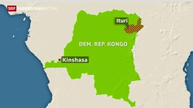 Eine Karte von Kongo.