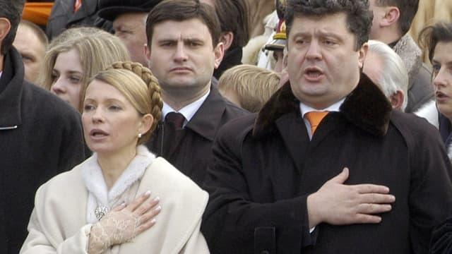 Poroschenko mit Timoschenko im Jahr 2005.