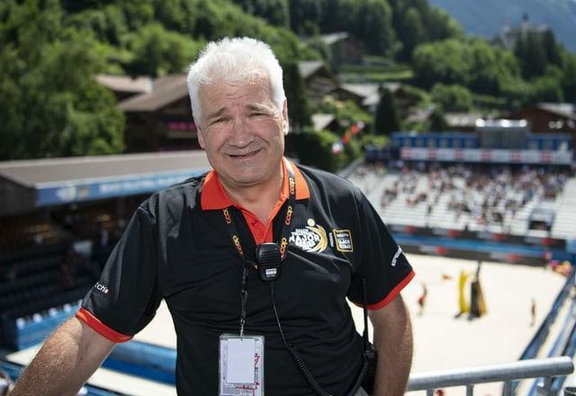 Ruedi Kunz, Organisator des Beachvolleyball-Turniers in Gstaad.