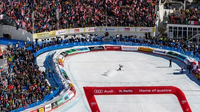 Der Zielraum in St. Moritz.