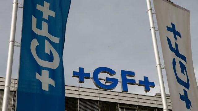 logo georg fischer sin bajetg e bandieras