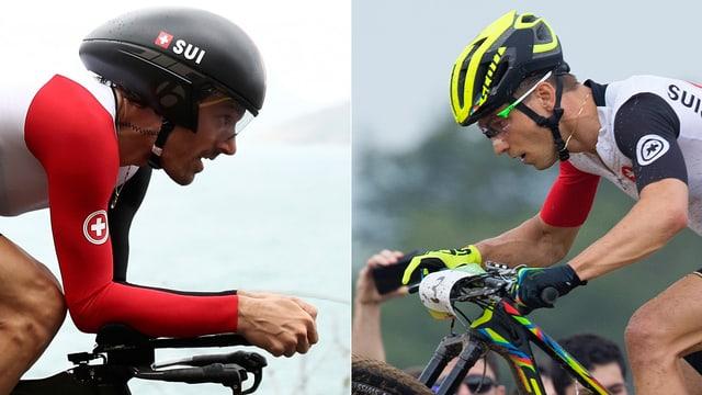 Zeitfahr-Olympiasieger Fabian Cancellara und Mountainbiker Nino Schurter.