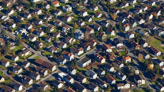 Ein Einfamilienhaus reiht sich ans nächste in Buchs (SG)