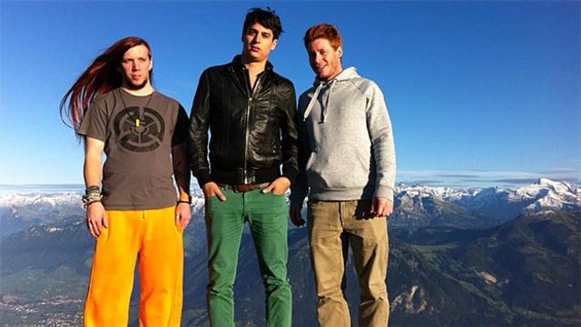 V.l.n.r: Bassist Jonathan Geiger, Sänger und Gitarrist Stefan Kaiser und Schlagzeuger Silvan Stirnimann
