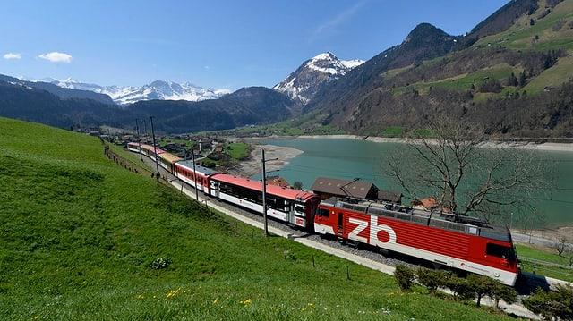 Brünigbahn im Kanton Obwalden