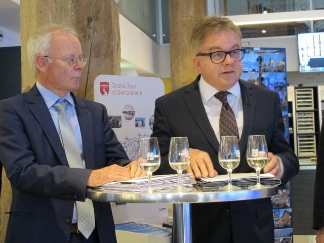 Reto Dubach, Regierungsrat des Kantons Schaffhausen und Guido Wolf, Fraktionsvorsitzenden der CDU im Landtag Baden-Württemberg