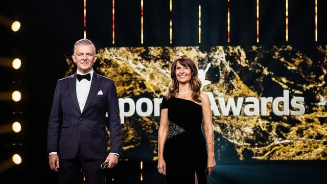 Das Moderatoren-Duo Rainer Maria Salzgeber und Sandra Studer.