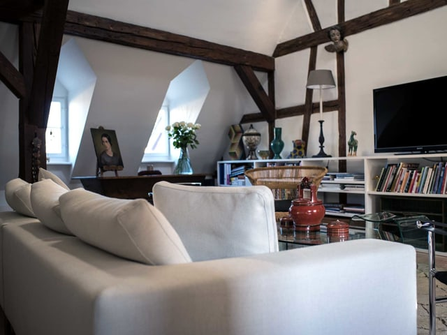 Ein Wohnzimmer.