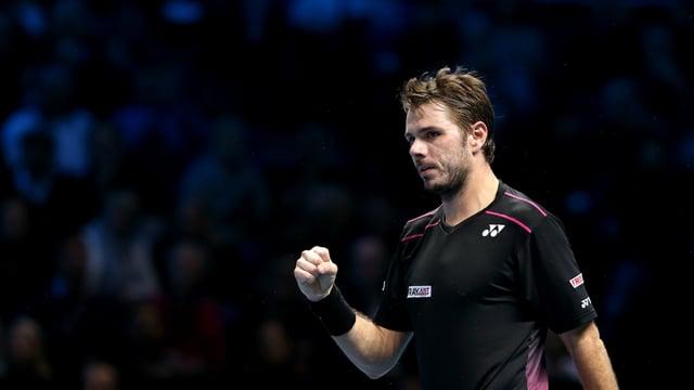 .Wawrinka ballt die Faust nach seinem Triumph gegen Murray.