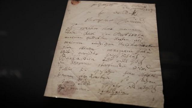 Auszug aus dem Testament von Ludwig van Beethoven