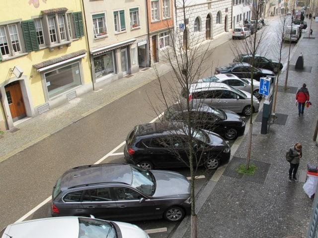 Parkplätze in der Stadt Schaffhausen.