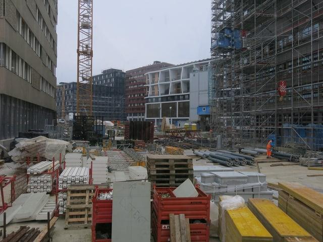 Eine Baustelle auf dem Suurstoffi-Areal.