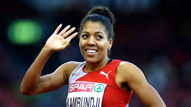 Cun in temp da 11,17 secundas è ella vegnida segunda en sia cursa d'eliminaziun sur 100 meters.