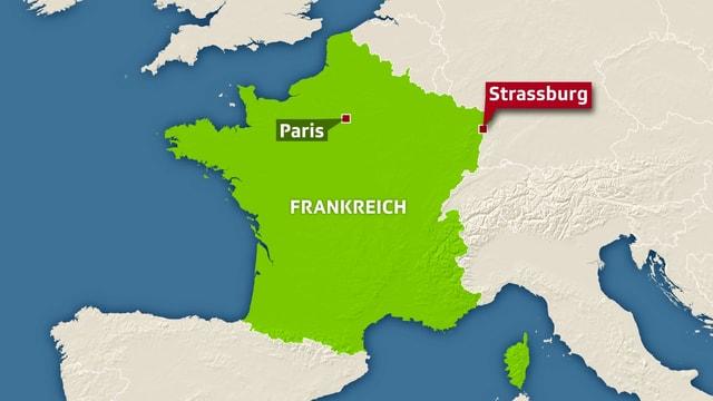 Karte von Strassburg.