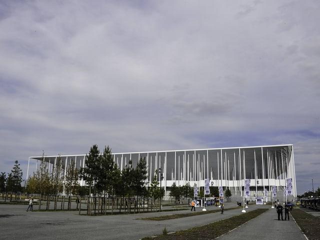 Das neue Stadion von Bordeaux - ganz in Weiss.