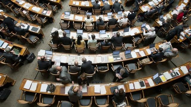 Blick in den Nationalratssaal zur Sondersession im Mai 2012.