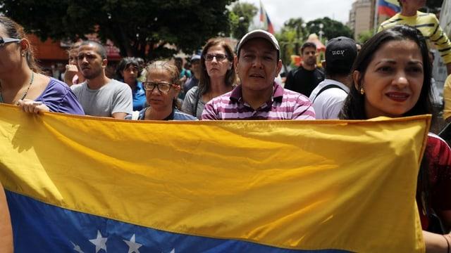 Unterstützer von Juan Guaidó in Caracas