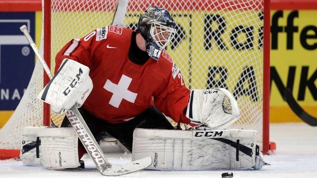 Reto Berra soll die Schweiz gegen Schweden zu einer Überraschung hexen.