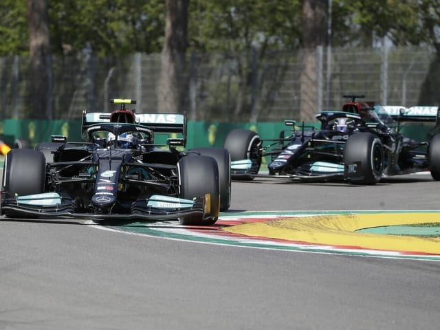 Die britischen «Silberpfeile» Valtteri Bottas und Lewis Hamilton.