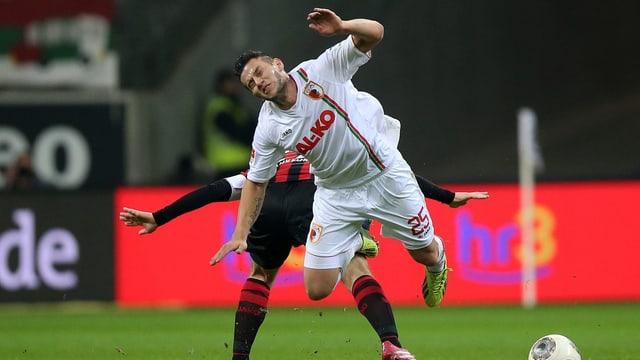 Raul Bobadille erzielte gegen Frankfurt seinen zweiten Saisontreffer für Augsburg.