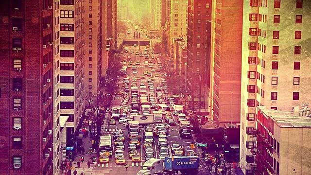 Stau in dern New-Yorker-Innenstadt