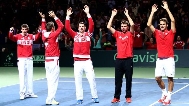Das Schweizer Davis-Cup-Team.