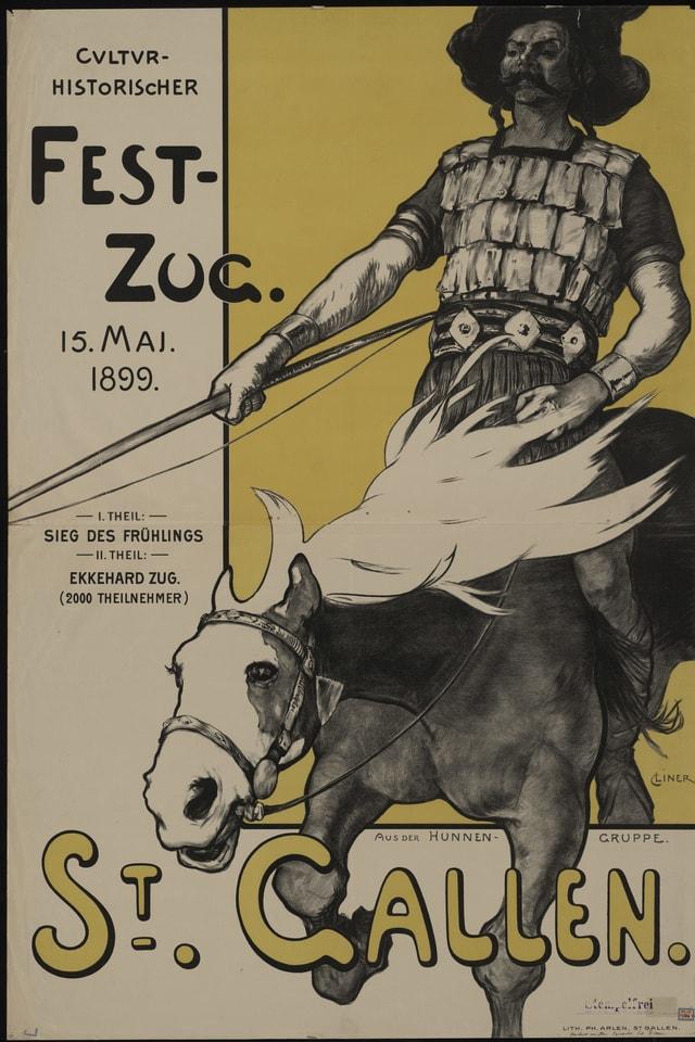 Culturhistorischer Festzug, Plakat, 1898.