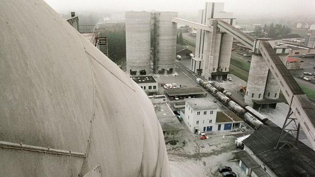 Zementwerk von oben