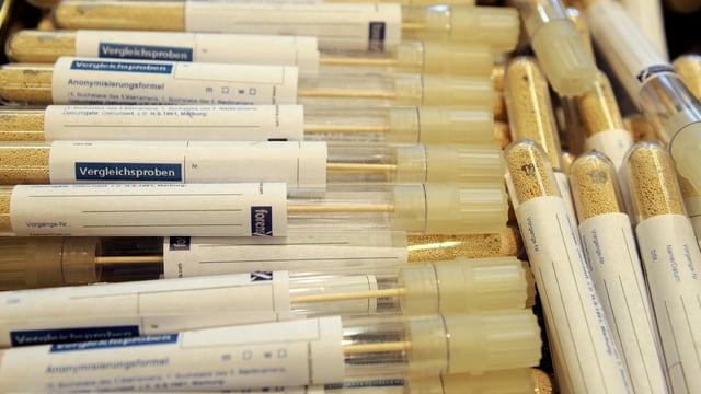 Röhrchen für DNA-Tests.