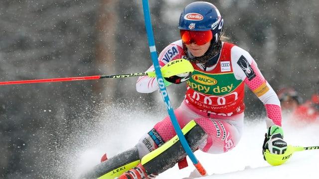 La skiunz'americana Mikaela Shiffrin.