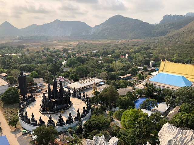 Totale auf eine Tempel- und Klosteranlage.