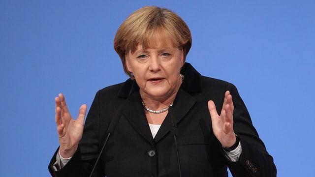 Porträt von Angela Merkel.