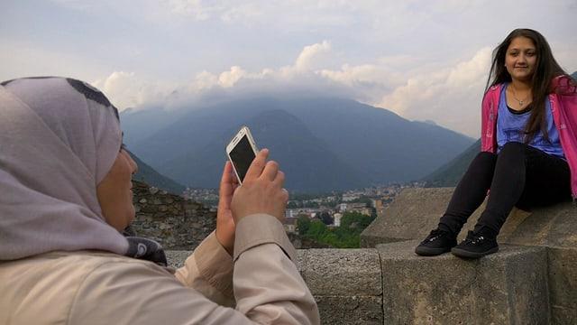 Razan entdeckt die Schweiz für sich.