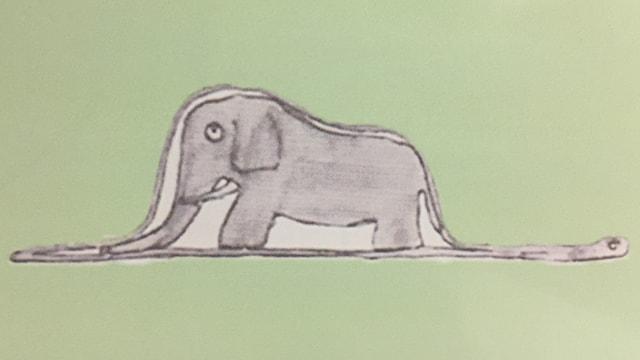 Na, i è ina cobra che ha mangià in elefant!