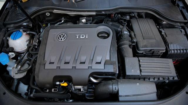 Il motor da diesel, d'in VW Passat TDI.