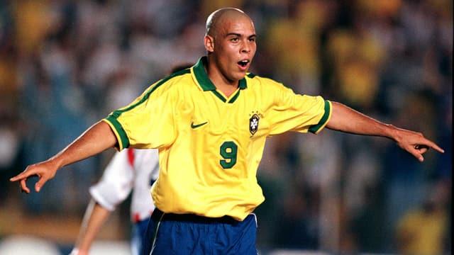 Ronaldo im Brasilien-Trikot.