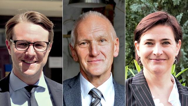 Philipp Wilhelm (PS), Peter Engler (PLD), Valérie Favre Accola (PPS).