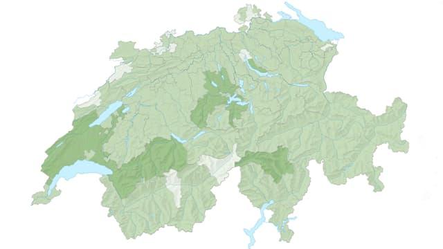 Schweizerkarte mit Bezirksgrenzen