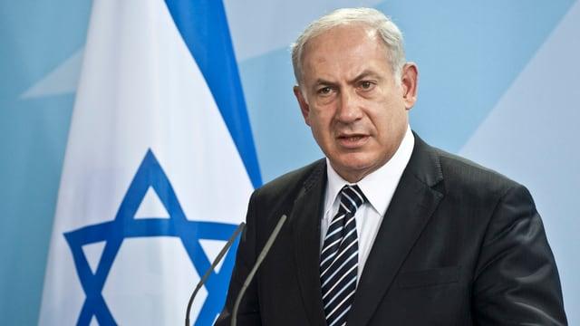 Portrait von Benjamin Netanjahu
